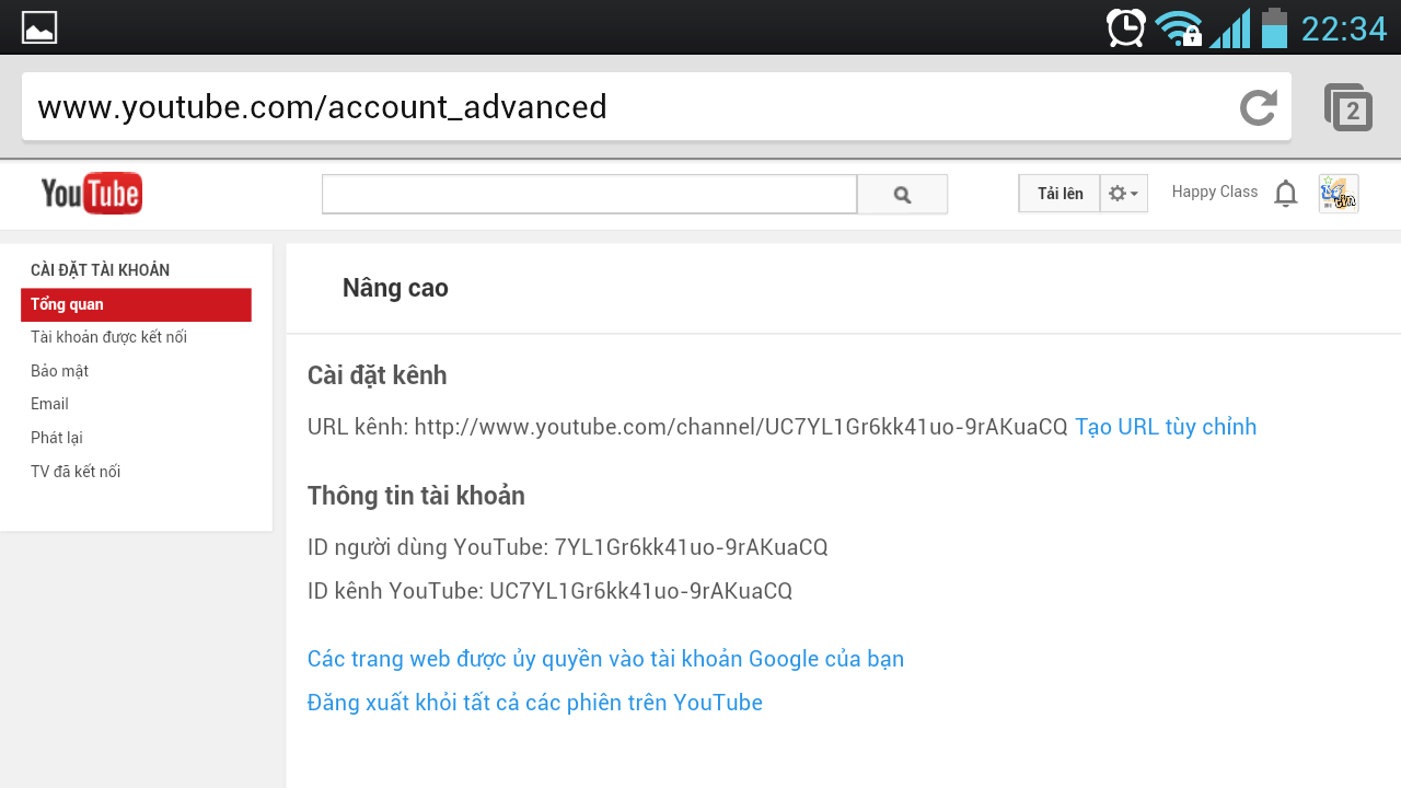 Cách tạo URL kênh tùy chỉnh trên Youtube