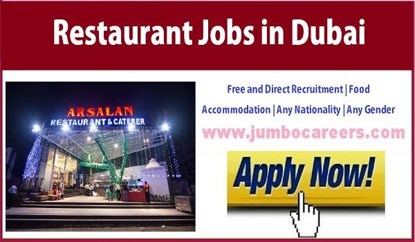 UAE Restaurant jobs in Dubai, Available restaurant jobs in Gulf countries,