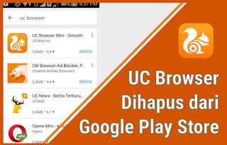 alasan uc browser dihapus dari playstore dan menghilang
