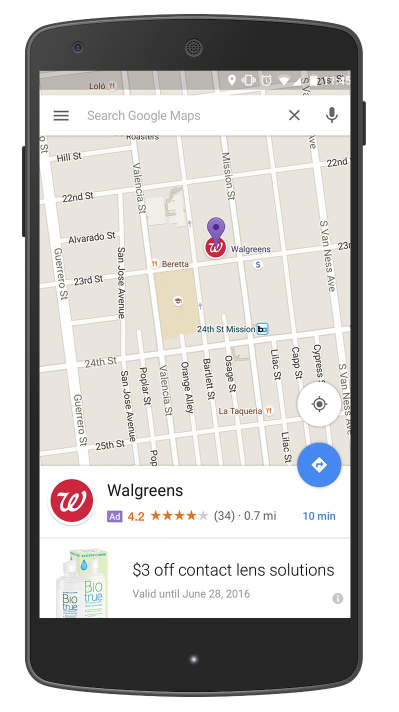 Реклама в Google Maps