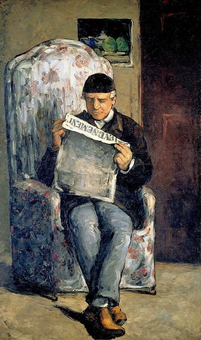 Pai do Artista Lendo - Paul Cézanne e suas principais pinturas ~ O fundador da Arte Moderna