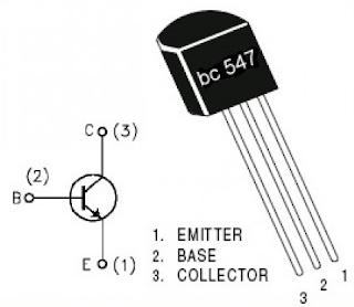 bc547 bacak bağlantısı