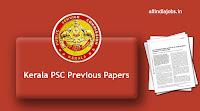 Kerala PSC Previous Papers