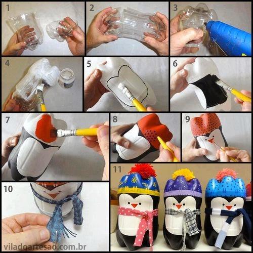 pinguin dari botol bekas