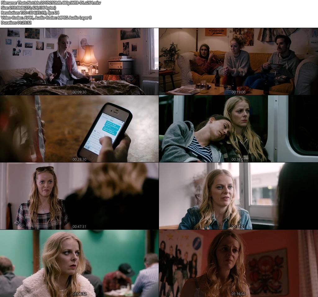 Thats Not Me 2017 WEB-DL 250MB 480p | HEVC 100MB Screenshot