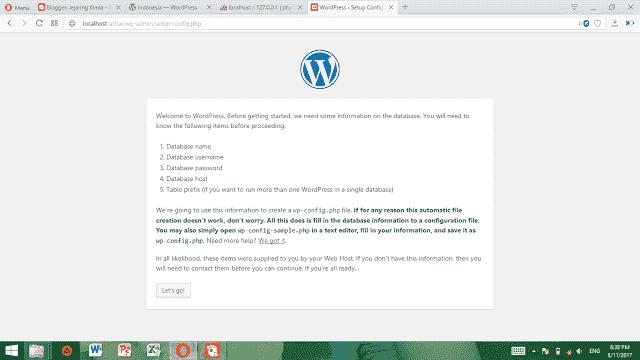 Instalasi wordpress pada localhost