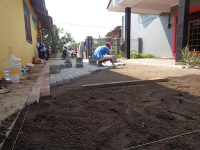 Jasa Pasang Paving block per meter