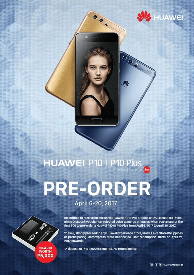 Huawei Philippines has announced that yous may shortly pre Huawei P10 And P10 Plus PH Pre Order Announced!
