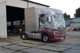 Tuning ciężarówki poprzez malowanie aerografia samochodowa, malowanie samochodów ciężarowych, airbrush truck