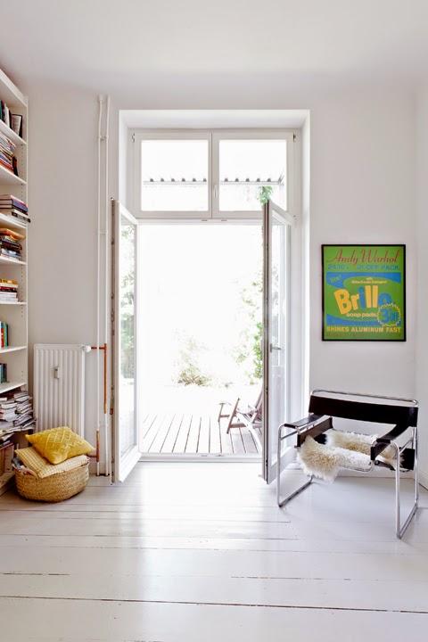 hogares frescos: apartamento minimalista con jardín fue renovado