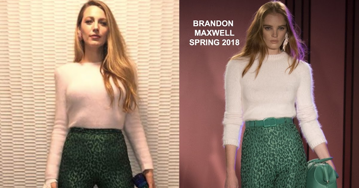 Instagram Style Blake Lively In Brandon Maxwell