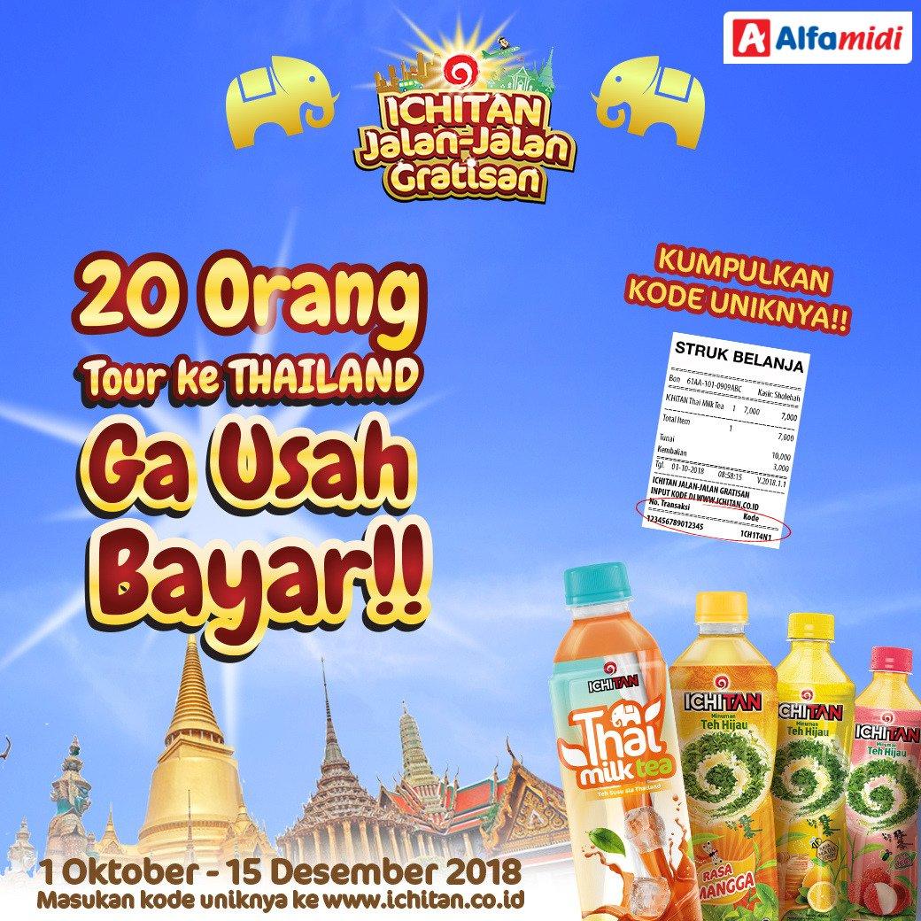 Alfamidi - Promo Undian Jalan2 Gratis ke Thailan dari IChitan (s.d 15 Des 2018)