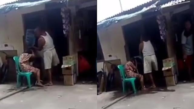 Beredar Video Seorang Pria Siksa Istrinya yang Sakit Stroke, Netizen Malah Muntab ke Tetangganya