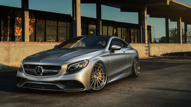 Mercedes S63 with ADV1 wheels at Train Yard HD
