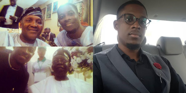 #BBNaija:  Throwback photos of Seyi Awolowo with Aliko Dangote and Tinubu