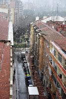 Nieva en Zaragoza