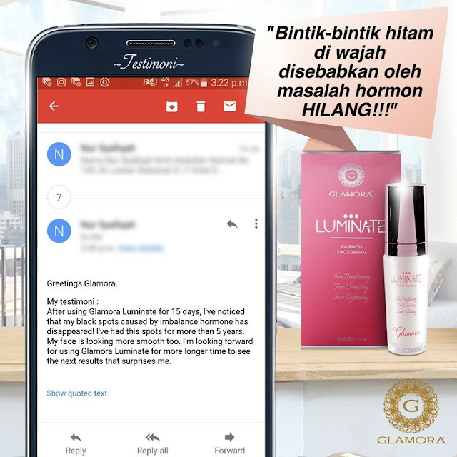 glamora, luminate, testimoni glamora luminate face serum