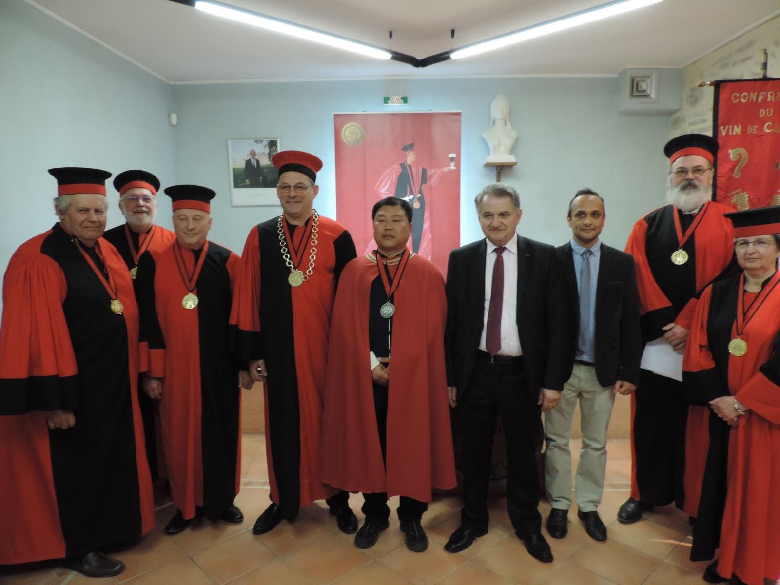Confr rie du vin de cahors chapitre exceptionnel for Maitre art martiaux chinois
