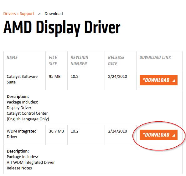 Instalación de drivers para ATI Radeon Xpress 200 Series en