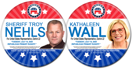 Troy Nehls and Kathaleen Wall are the Rep Candidates for U.S. Congress, District 22