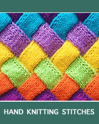 Learn Stockinette Entrelac Pattern with our easy to follow instructions at HandKnittingStitches.com