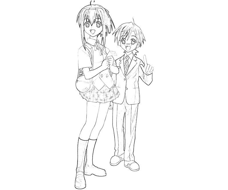 negima anime coloring pages - photo#10