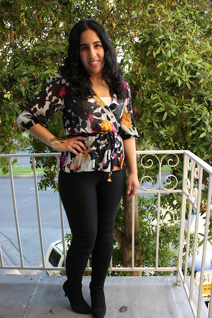 DVF Nissa Top Black Pants Work Outfit