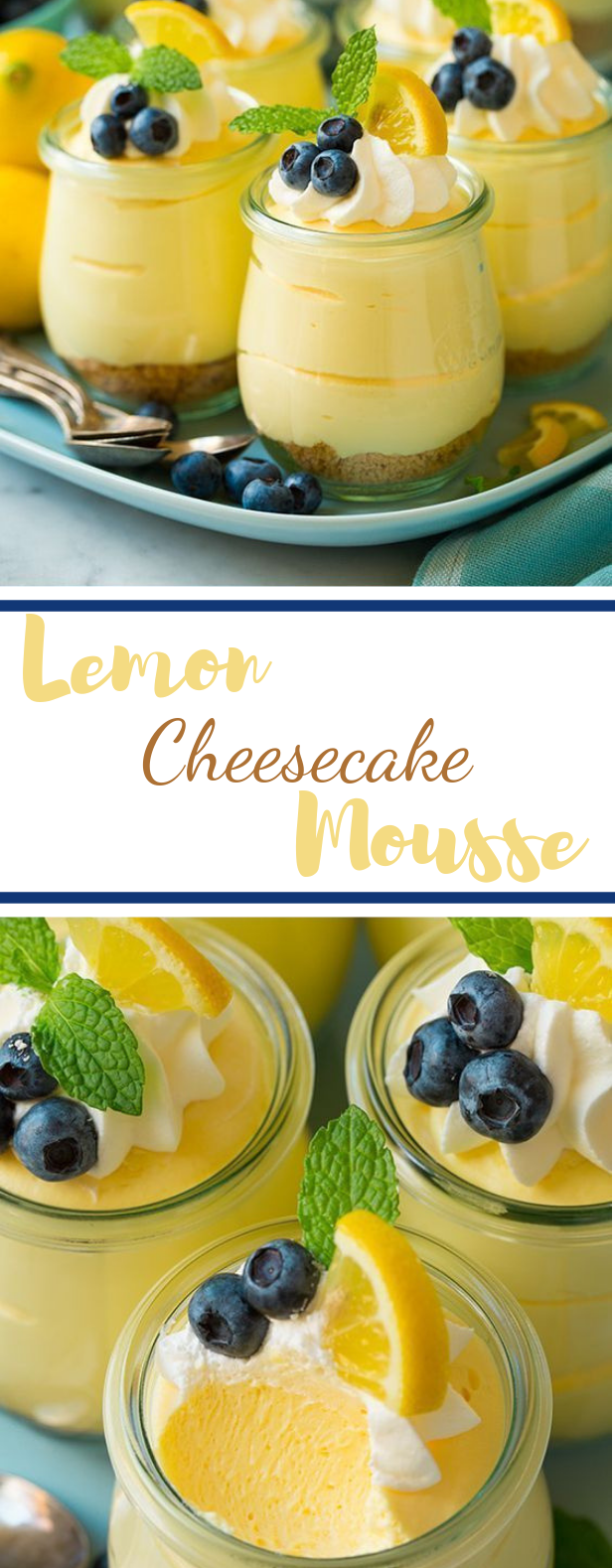 Lemon Cheesecake Mousse #summer #desserts