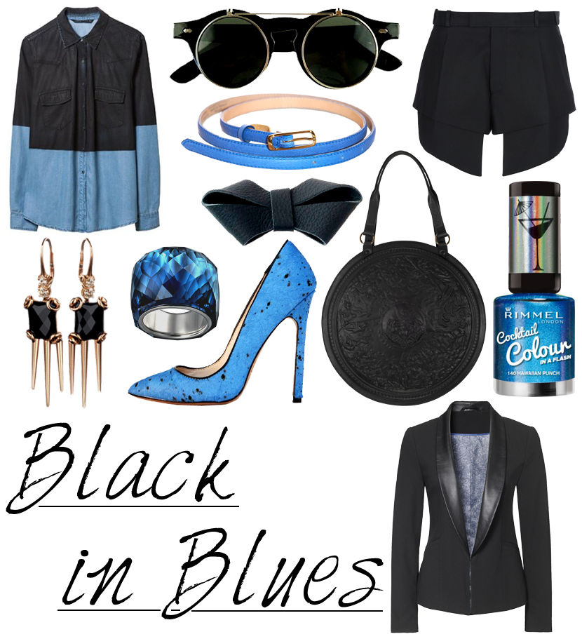 Mix & Match | B(l)ack in Blues!!! Fashion, Accessories, Beauty, Make-Up, Nailpolish, Brands, Mix and Match, Must Have, Wish List, Spring, Spring/Summer, New, Black, Colours, Moodboard, look, Want, Love, Blog, blogger, zeroUV, Thierry Mugler, ZARA, col Claudine, Gucci, Louise Leconte, Lauren Marinis, s.Oliver, Rimmel, Swarovski, Manufactuur, Fleur Feijen