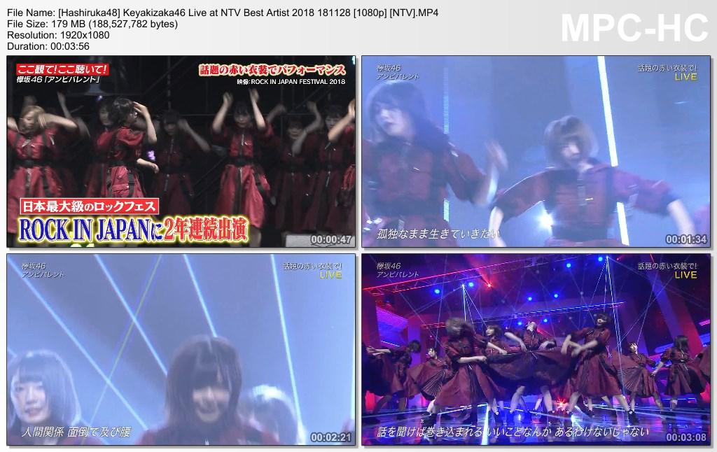 Keyakizaka46 Live at NTV Best Artist 2018 181128 (NTV) - Hashiruka48