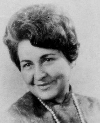 Carmen Delia Bencomo, escritora venezolana (foto en blanco y negro)