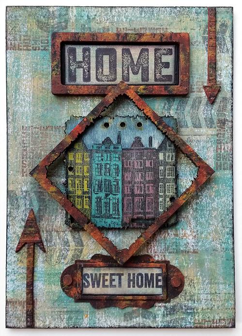#4 - Windows, Doors and Architecture - PaperArtsy Stamps, Paints and Wood Chips - by Nikki Acton