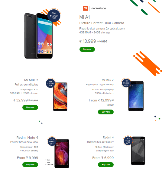 Xiaomi offer on mobile phones