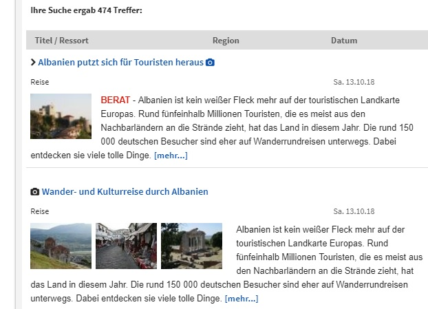 Two articles within a week about Albanian Tourism by Germans