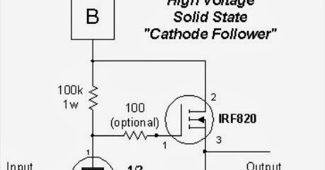 Schematic: High Voltage Solid State Circuits for Tube