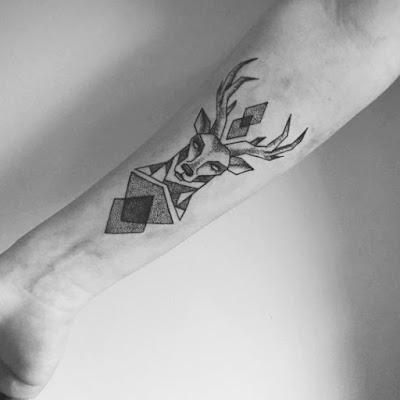 Lovely Forearm Deer Tattoo Designs