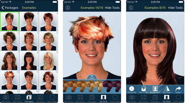 free app for trying different hairstyles