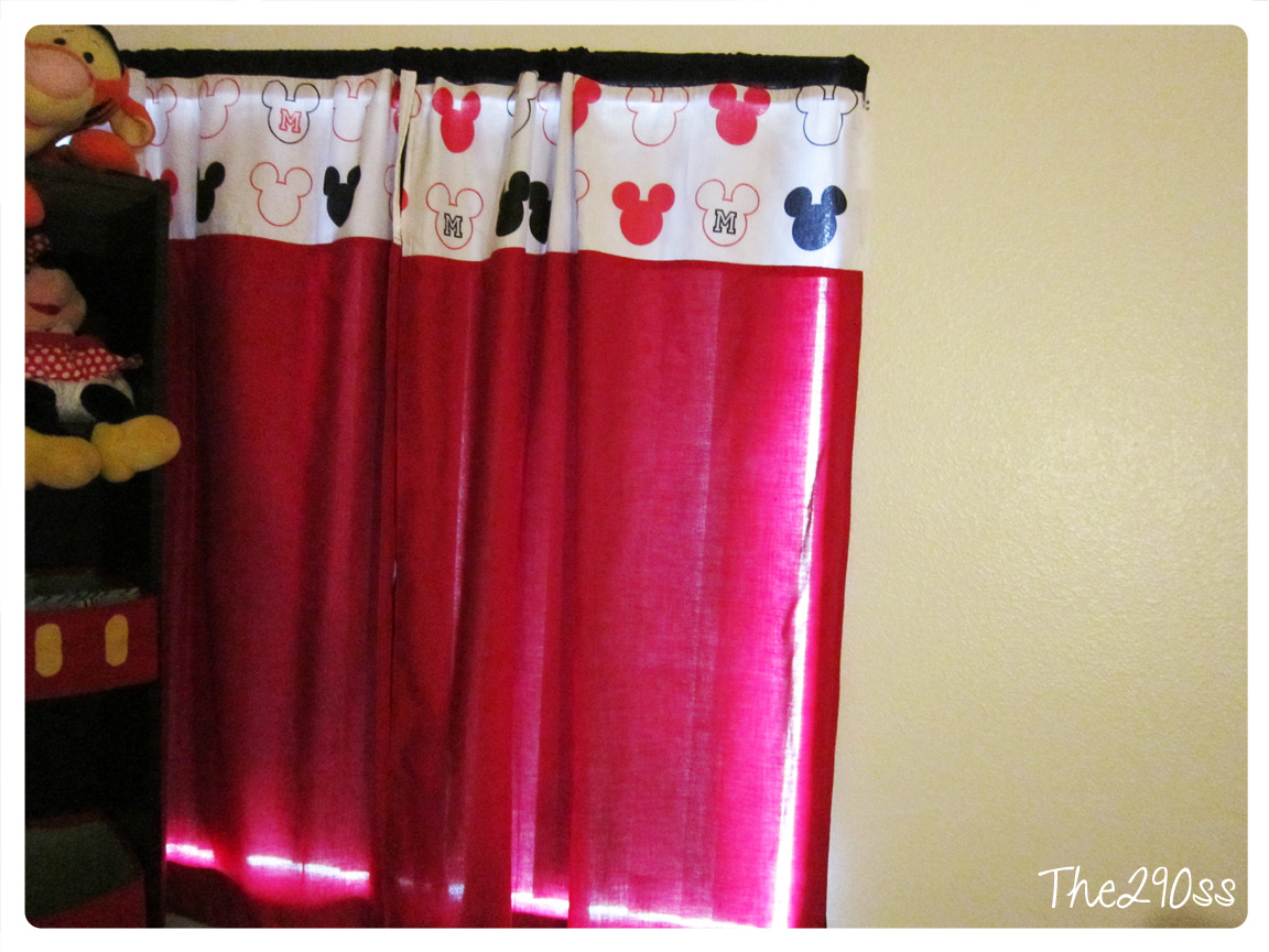 The290ss Mickey Mouse Curtains Room Deco Tutorial