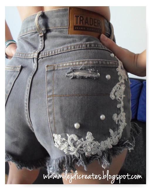 Poszarpane szorty jeansowe z dziurami, trend lata 2016, spodenki DIY // Waisted, ripped denim short DIY Jak zrobić dżinsowe spodenki z dziurami
