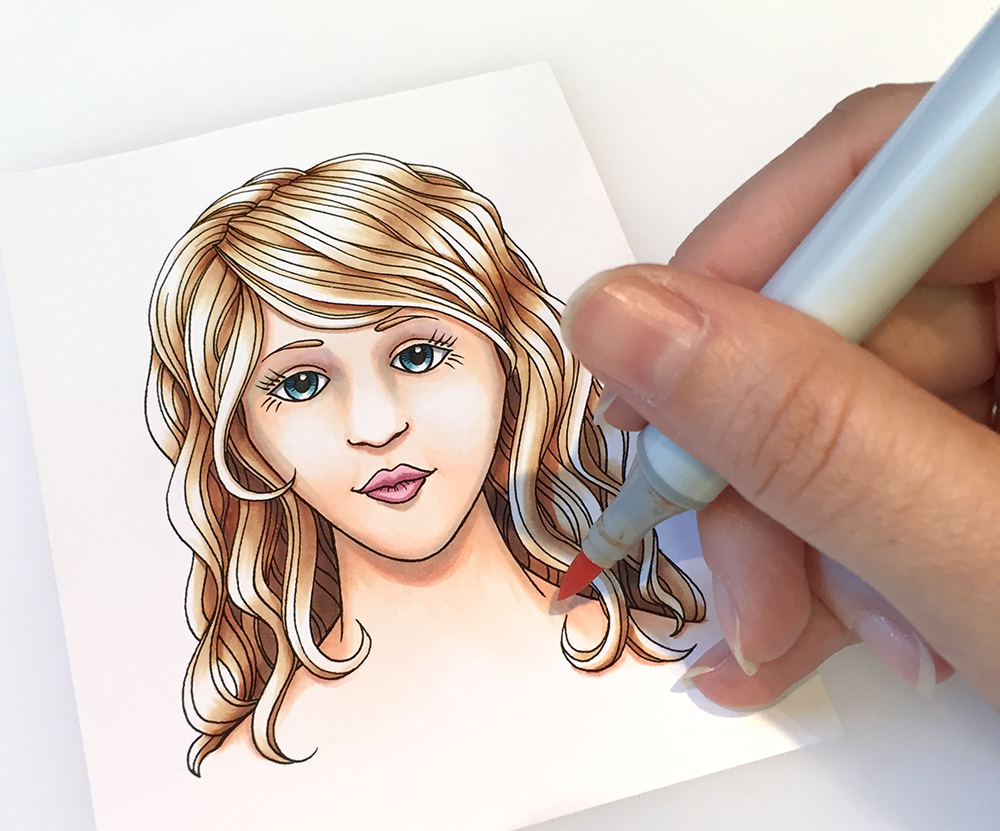 Copic Marker Coloring Faces /& Hair Book
