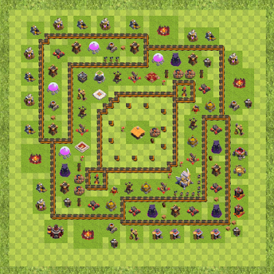 War Base Town Hall Level 11 By rwjhelder (Finished TH 11 Layout)