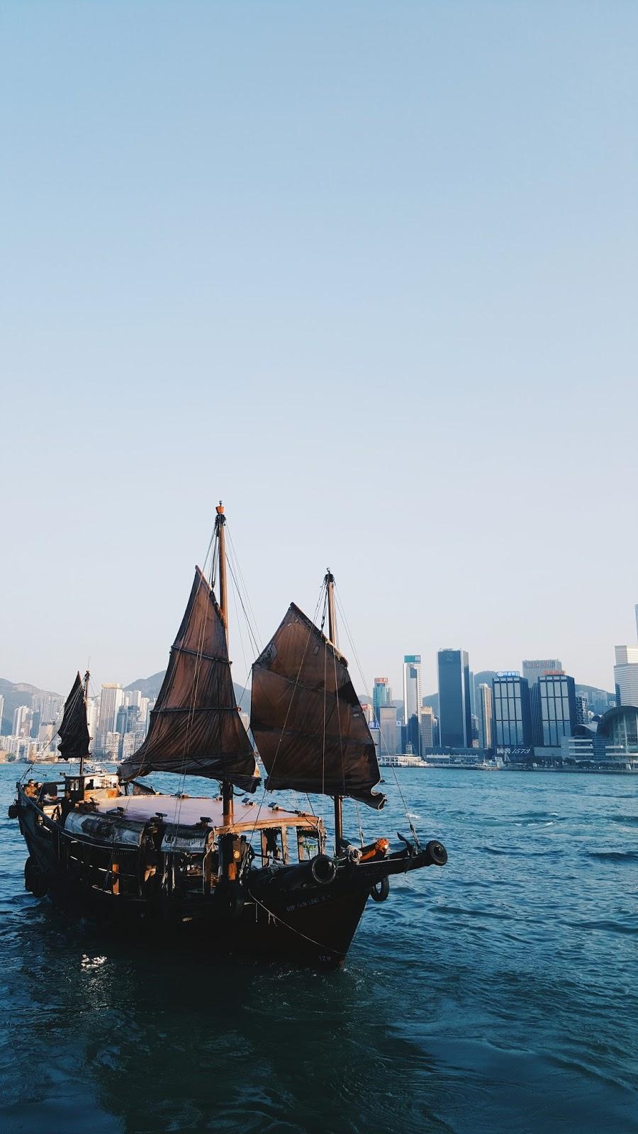 Chinese, Hong Kong, Tsim Sha Tsui, Water, Chinese Boats, Travel, Discover Hong Kong, Junk Boat,