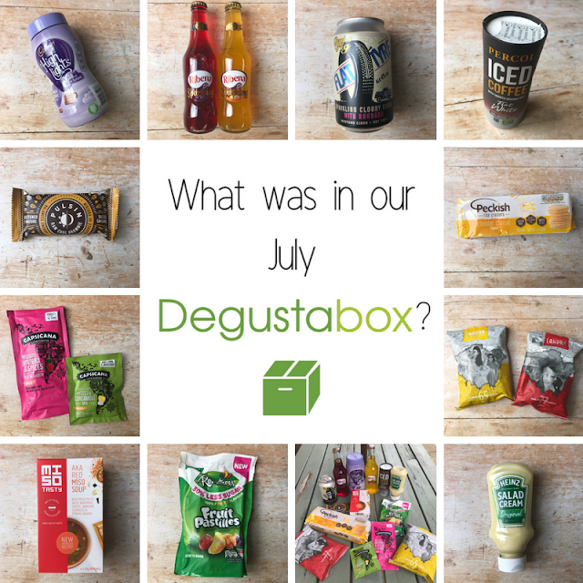 July 2018 Degustabox contents