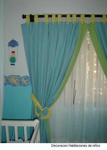Experta en cortinas y cenefas cortinas ni os - Cortinas de habitacion ...