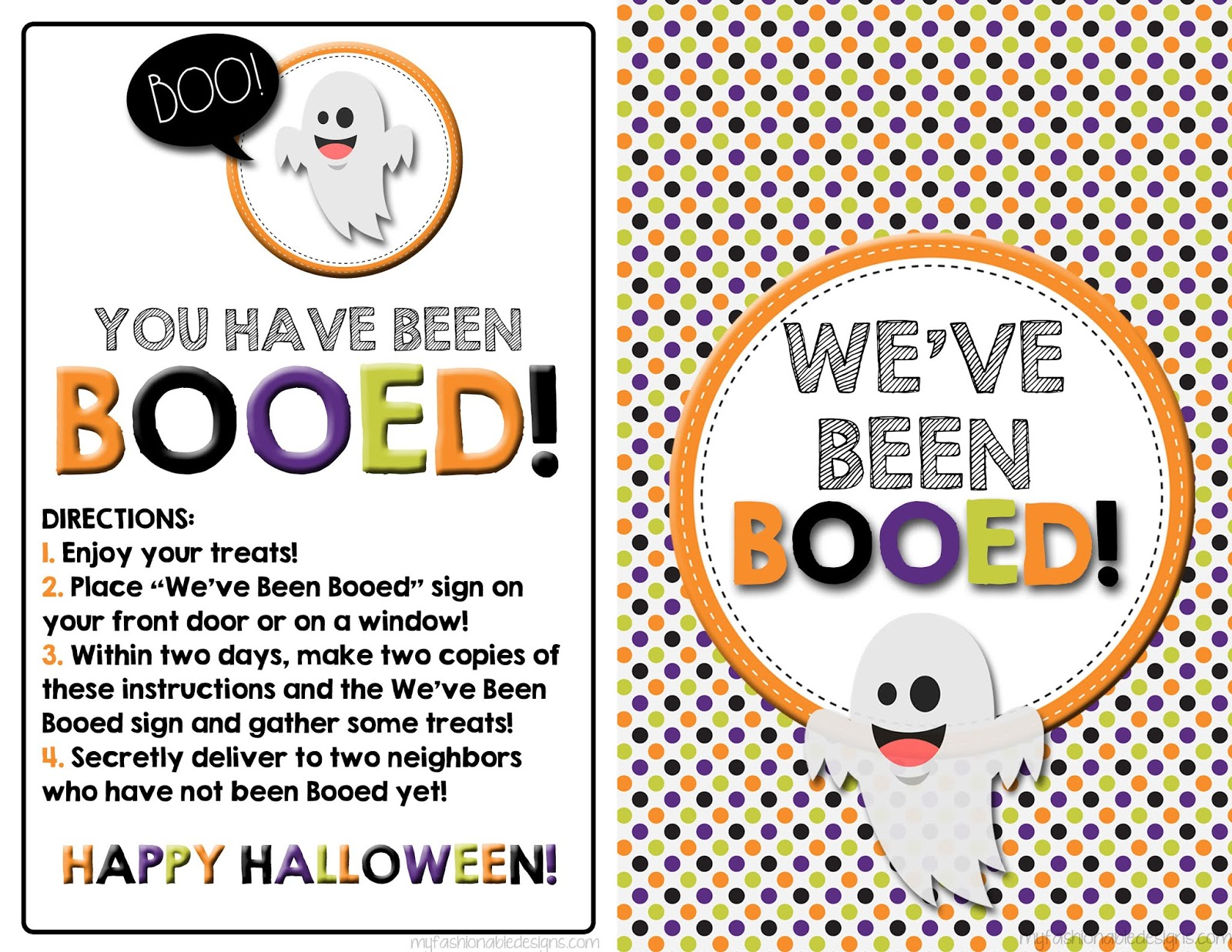 picture about You've Been Booed Free Printable referred to as My Modern Programs: Totally free Printable Booed Signal and