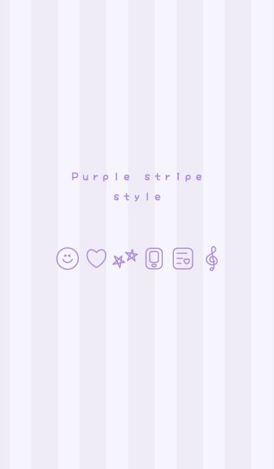Purple stripe style