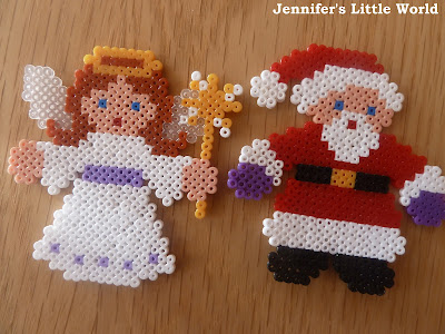 Mini Hama bead Christmas designs