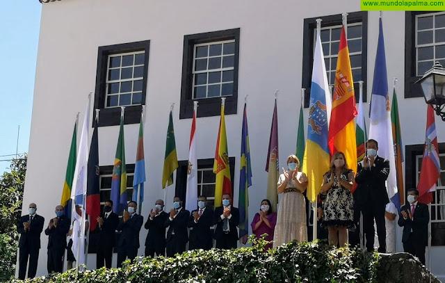El Cabildo veneró y rindió homenaje a la Virgen de las Nieves, patrona y regidora mayor de La Palma