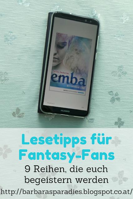 Lesetipps für Fantasy-Fans: 9 Reihen, die euch begeistern werden - Emba-Dilogie von Carina Zacharias