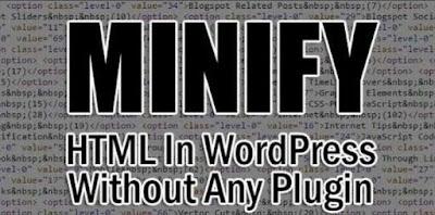 minify html pada template wordpress tanpa plugin